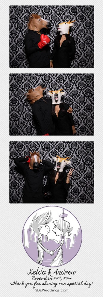 kelda andrew toronto wedding photo booth at the steam whistle brewing