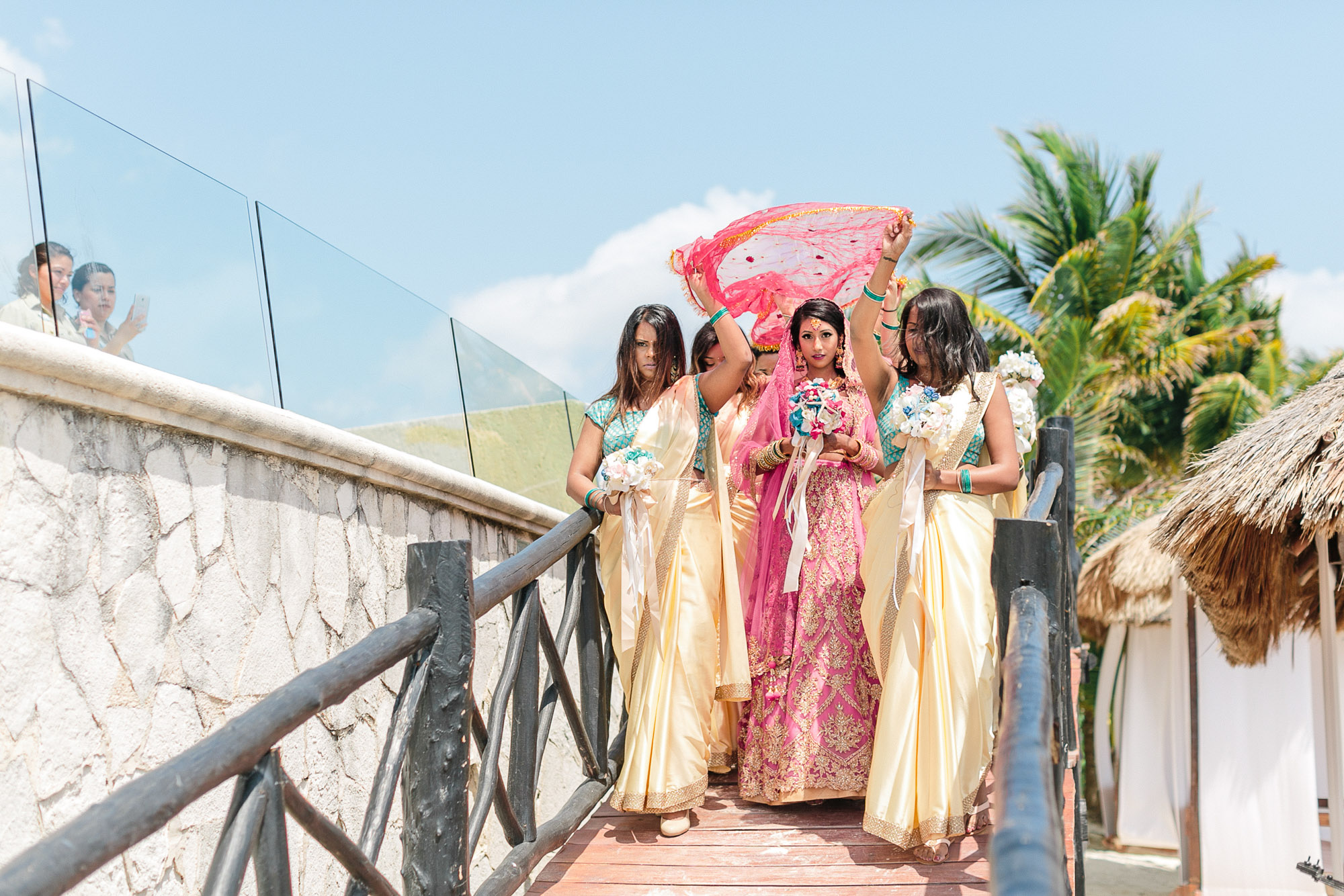 Toronto Destination Hindu Wedding Videographer at Azul Sensatori Cancun Mexico Resort