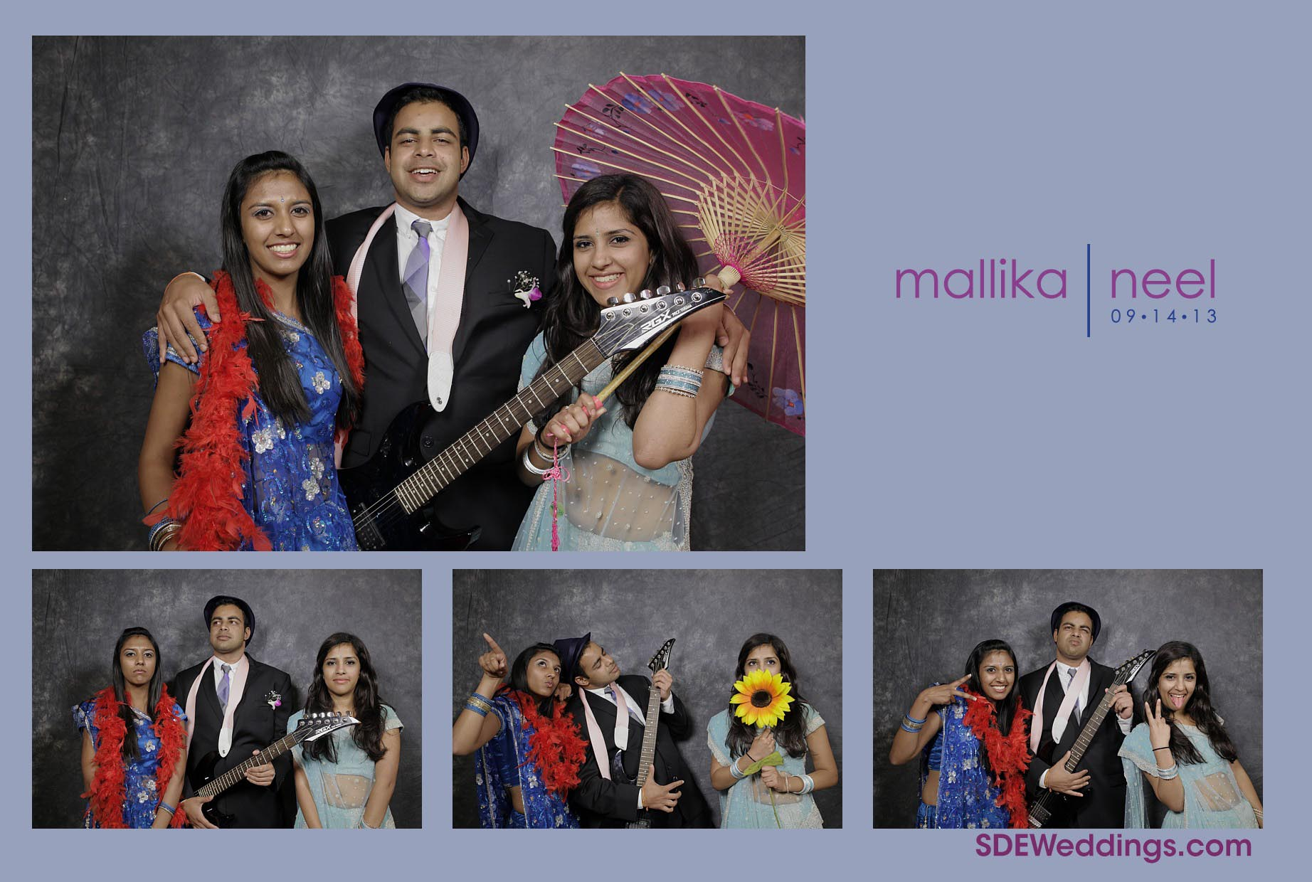 Neel Mallika Photobooth Photos