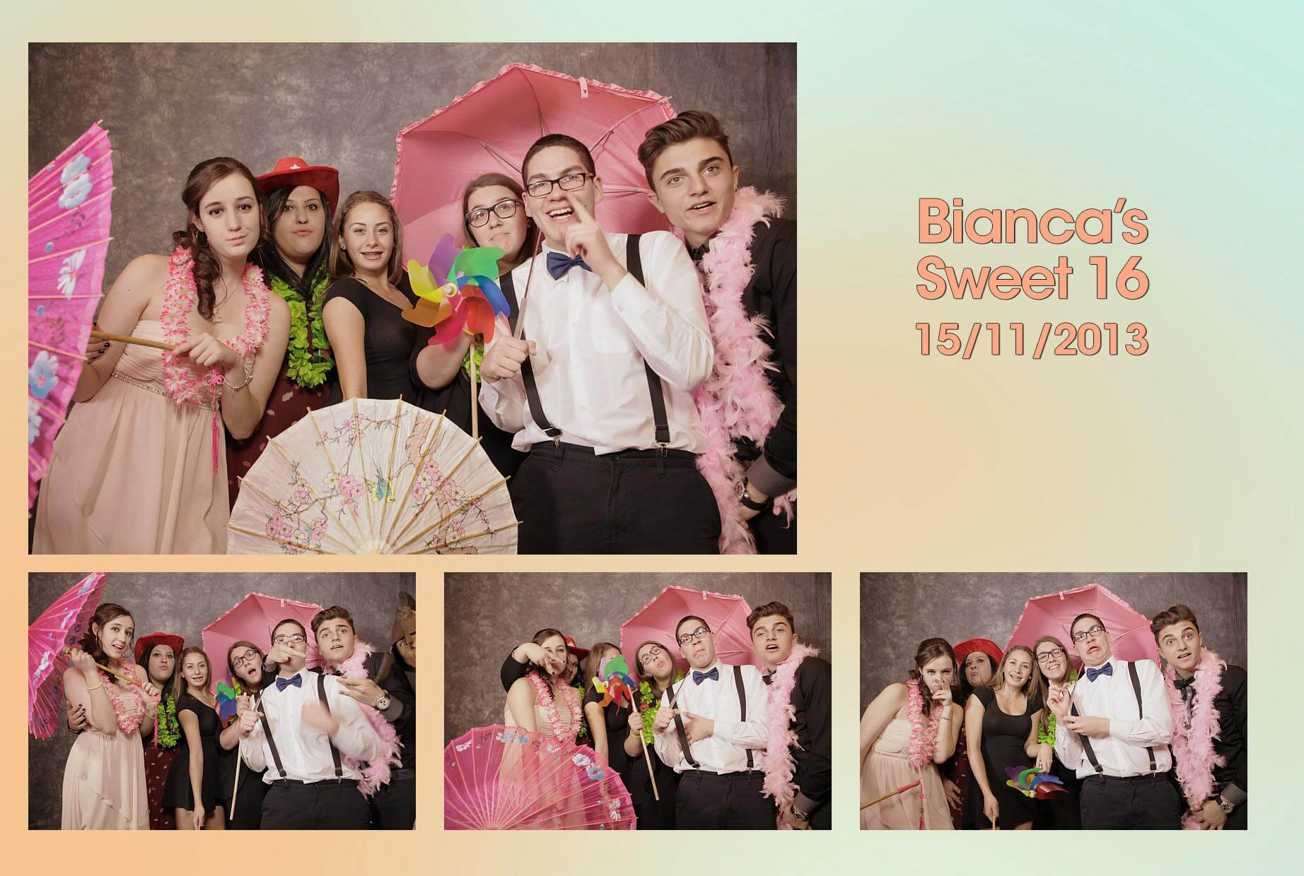 Toronto Party Photobooth Rental Photos Bianca Sweet 16
