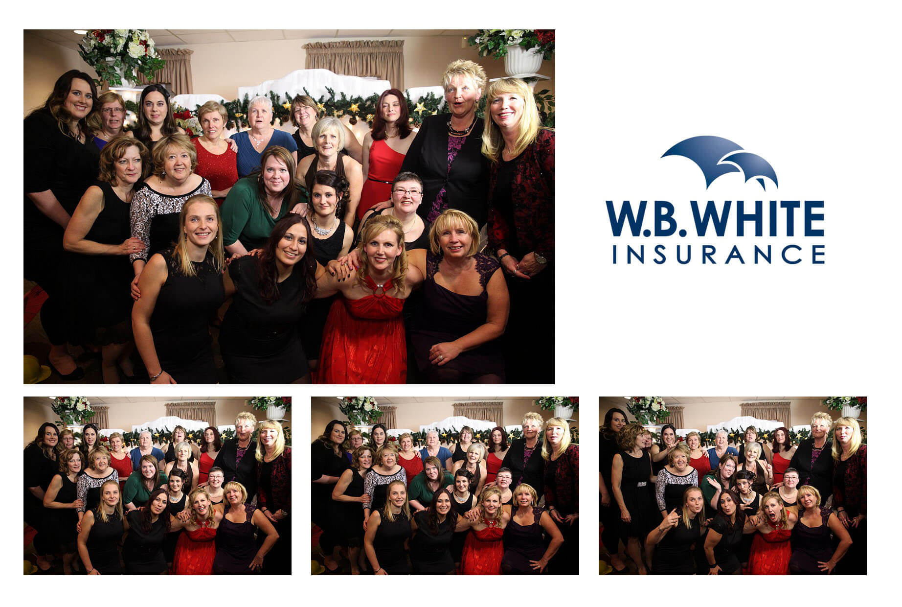 Toronto Ajax Christmas Party Photobooth Rental Photos WB White Insurance