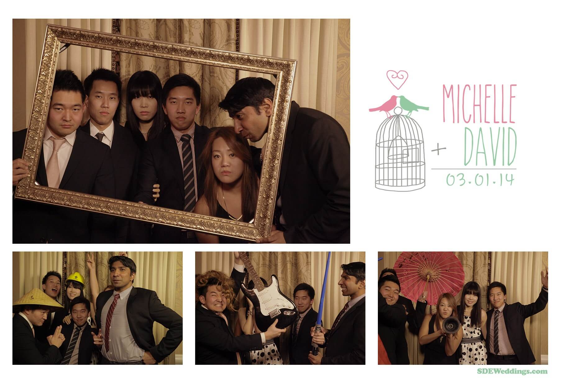 michelle david wedding photobooth photo