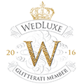 as seen on Wedluxe Glitterati Member 2016