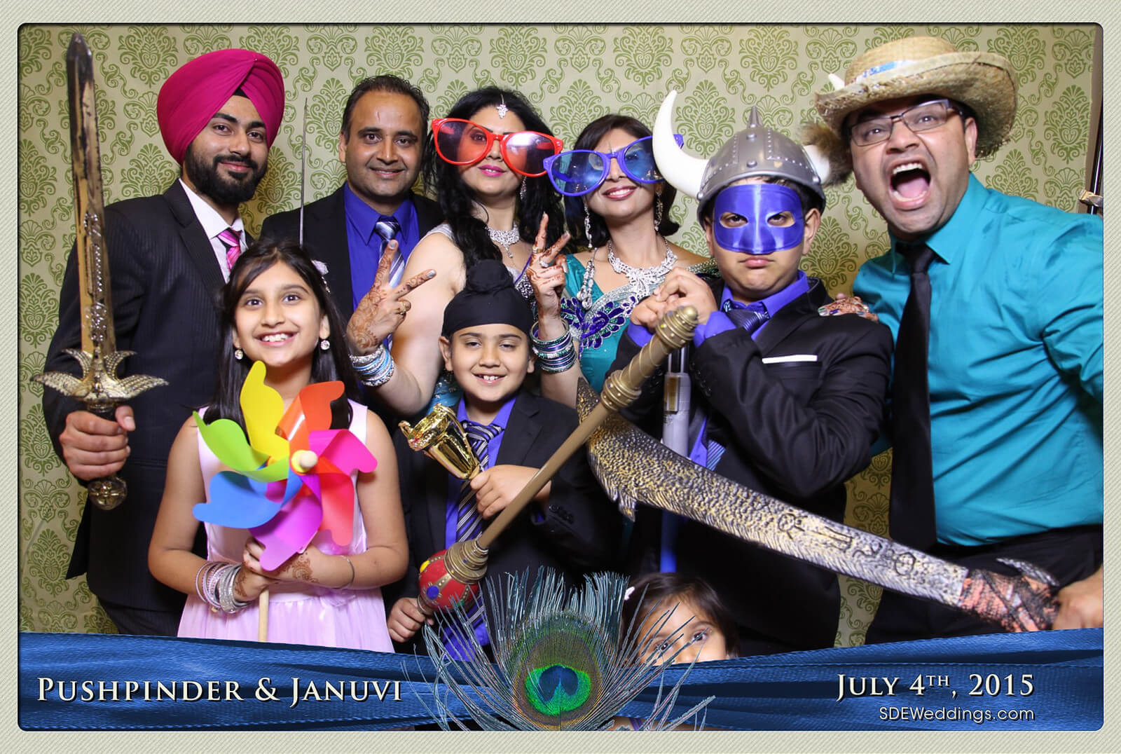 Mississauga Versailles Convention Centre South Asian Wedding Photo Booth Rental 2