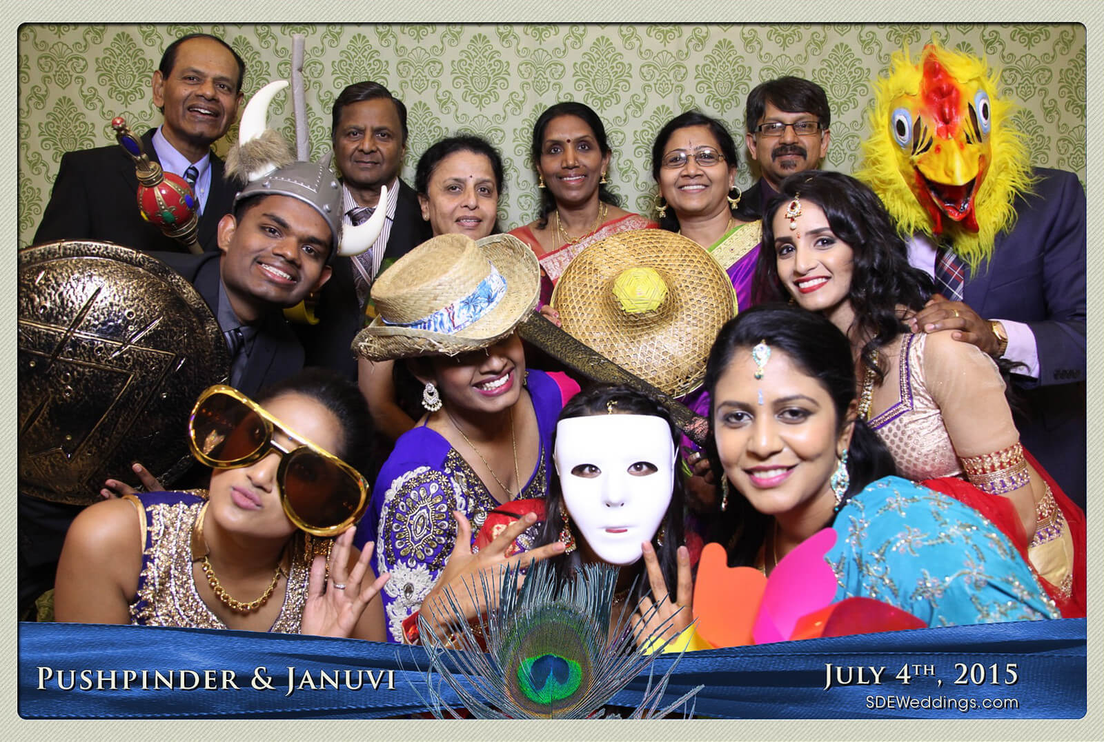 Mississauga Versailles Convention Centre South Asian Wedding Photo Booth Rental 9