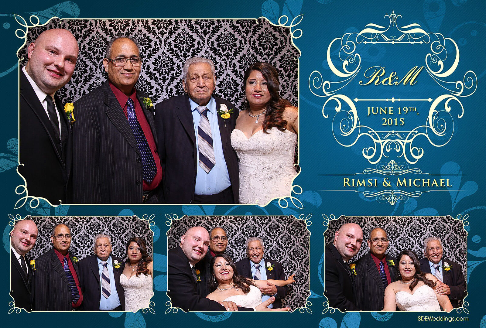 Toronto Italian Borgata Wedding Photo Booth Rental 3