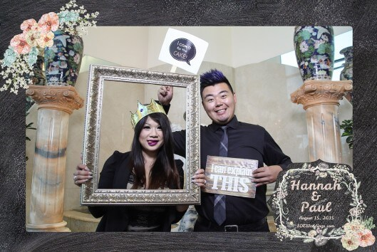 toronto photo booth rental single frame design 3