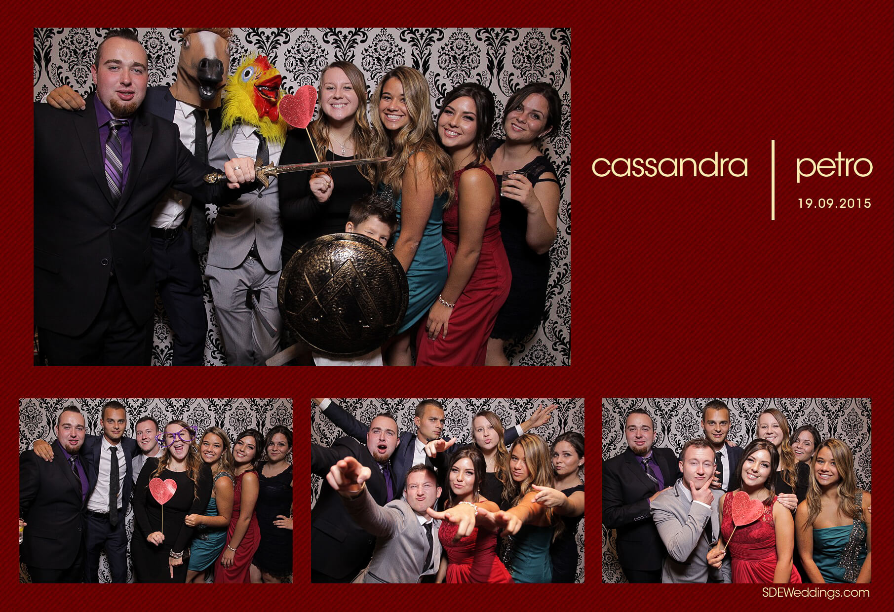 Wedding Photo Booth Rental at the Oakville Conference and Banquet Centre 1