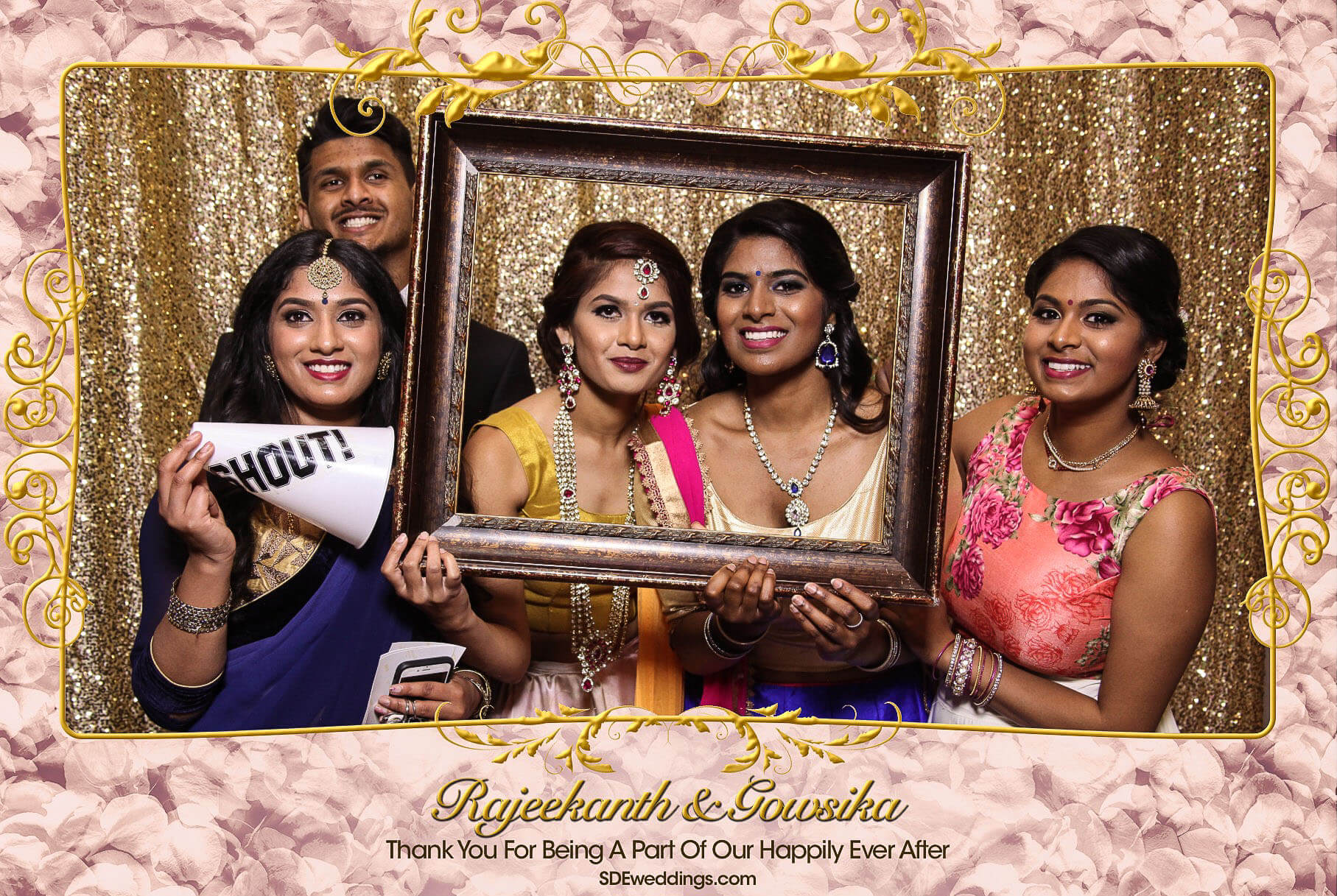 Toronto Tamil Wedding Photo Booth Rental at Chandni Banquet Hall 7