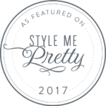 as seen on Style Me Pretty 2017