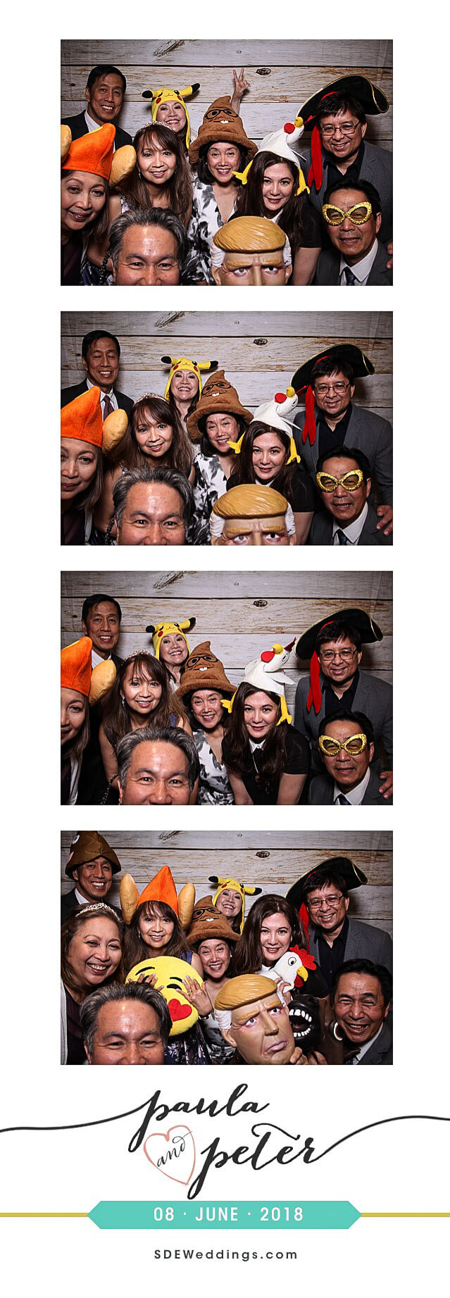 Peter & Paula's Korean Wedding Photo Booth Photos at Oakview Terrace